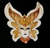 karnawałowe szarość odizolowywająca maska Obrazy Royalty Free