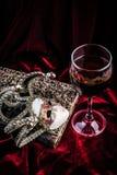 karnawałowe szarość odizolowywająca maska Theatre dekoraci pojęcie Fotografia Royalty Free
