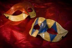 karnawałowe zabawy wakacje maski Fotografia Stock