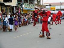 Karnawałowi diabły w Bocas del Toro Fotografia Royalty Free