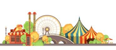 Karnawałowy miasto park royalty ilustracja