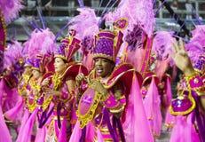 Karnawałowy samba tancerz Brazylia zdjęcie royalty free