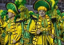Karnawałowy samba tancerz Brazylia obraz royalty free
