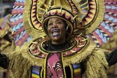 Karnawałowy samba tancerz Brazylia obraz stock