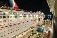 Karnawałowy statek wycieczkowy przy nocą Zdjęcie Royalty Free