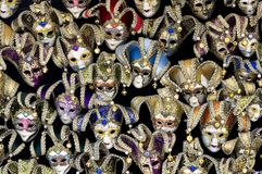 karnawałowy udział maskuje venetian Obraz Royalty Free
