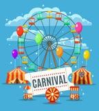 Karnawałowy zabawa parka plakat royalty ilustracja