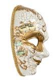 Karnawału maskowy arlekin odizolowywający na białym tle Obraz Stock