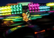 Karnawału midway światła Zdjęcie Stock