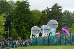 Karnawał giganta festiwalu parada w Telford Shropshire Fotografia Royalty Free