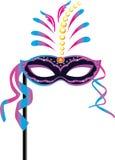 Karnawał maska dla maskaradowych kostiumów Zdjęcia Royalty Free