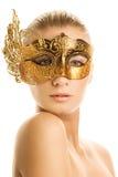 karnawał maskowa kobieta Zdjęcia Royalty Free