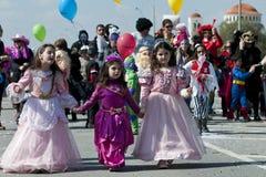 karnawałowa cibory Nicosia parada Zdjęcie Stock