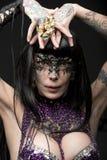 Karnawałowa dziwaczna kobieta Obrazy Royalty Free