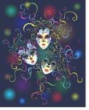 karnawałowe zabawy wakacje maski Zdjęcia Royalty Free