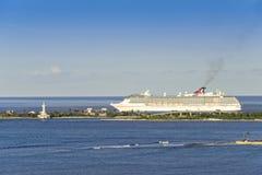 Karnawałowy statek wycieczkowy w Karaiby Zdjęcia Royalty Free