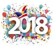 Karnawału 2018 balonów confetti Obraz Royalty Free