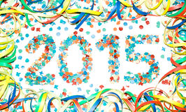 Karnawału teksta 2015 confetti Zdjęcie Stock