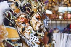 karnawałowej dekoraci sławny Italy maskowy tradycyjny venezia Venice Obraz Stock