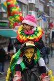 Karnawałowi uliczni wykonawcy w Maastricht Obrazy Stock