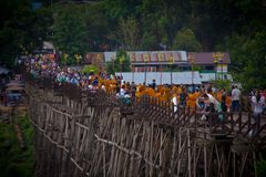 Karnchanaburi Таиланд Sangkraburi Стоковые Изображения RF