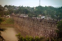 Karnchanaburi Tailandia de Sangkraburi Imagen de archivo