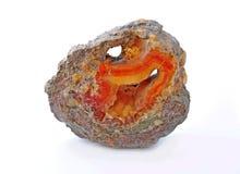 Karneol und Mineralien Stockfoto