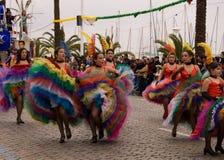 karneval 2010 febrary portugal Arkivbilder