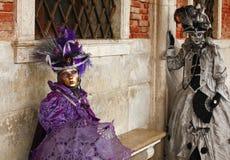 Karneval 2011 von Venedig Stockfotos