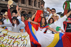 karneval 2012 italy rome Royaltyfri Fotografi