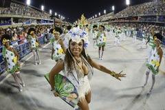 Karneval 2017 - Academicos tun Cubango Lizenzfreies Stockbild