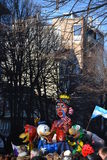 Karneval - amerikansk float arkivfoto