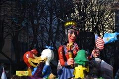 Karneval - amerikansk float royaltyfri foto