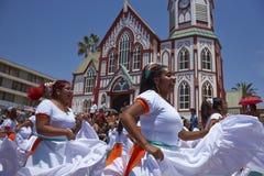 Karneval in Arica, Chile lizenzfreie stockbilder