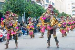 Karneval av Badajoz 2016 Arkivbilder