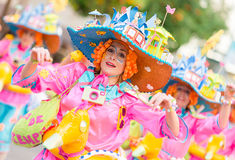 Karneval av Badajoz 2016 Fotografering för Bildbyråer