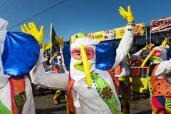 Karneval av Barranquilla, i Colombia arkivbilder