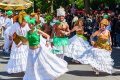 Karneval av kulturer i Berlin, Tyskland royaltyfria bilder