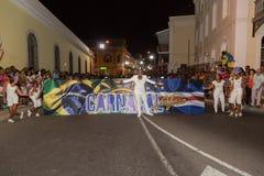 Karneval av sommar i Mindelo, Kap Verde Royaltyfri Foto