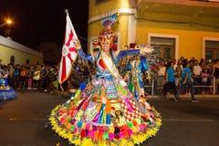 Karneval av sommar i Mindelo, Kap Verde Fotografering för Bildbyråer