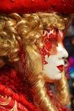 Karneval av Venedig, slut upp, Italien, Europa Royaltyfri Bild