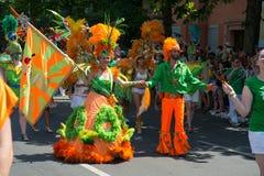 Karneval der的Kulturen参加者 图库摄影