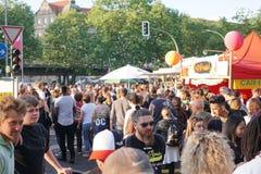 Karneval der Kulturen festival 2018 in Berlin, Germany. Berlin, Germany - May 19, 2018: Crowd attending the Carnival of Cultures. Karneval der Kulturen is a stock photos
