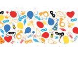 Karneval, Festival, Partei, Geburtstags-Dekoration, Vektor Lizenzfreies Stockfoto