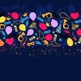 Karneval, Festival, Partei, Geburtstags-Dekoration, Vektor Stockfotografie