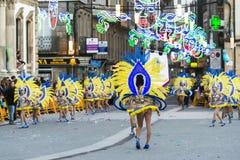 Karneval in Galizien (Spanien) Stockbild