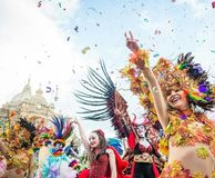 Karneval Gozo royaltyfri foto