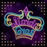 Karneval-Handbeschriftung Neondekor für das New- Orleansfestival Stockbild