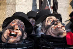 Karneval i Baseln, Schweiz Royaltyfri Foto