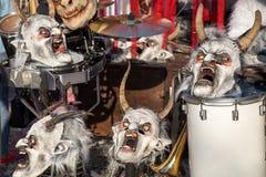 Karneval i Baseln, Schweiz Royaltyfria Foton